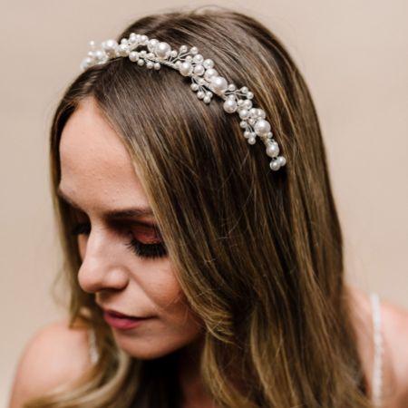 Arianna Siren Low Pearl Wedding Tiara AR611