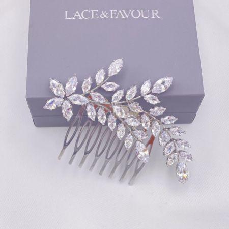 Aurora Crystal Spray Wedding Hair Comb