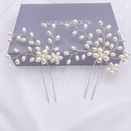 Cascade Set of 2 Pearl Spray Hair Pins