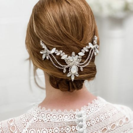 Chatsworth Statement Crystal Wedding Headpiece