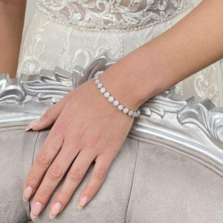 Claverley Round Crystal Embellished Wedding Bracelet
