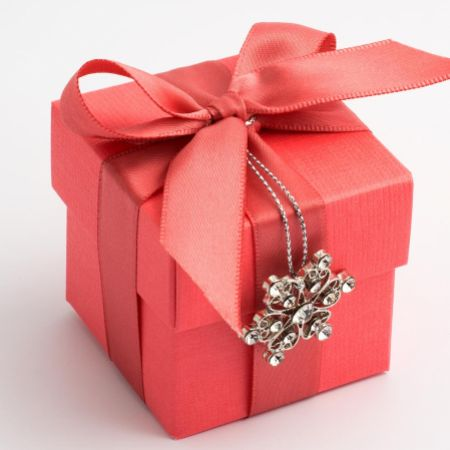 Coral Silk Favour Box - Pack of 10