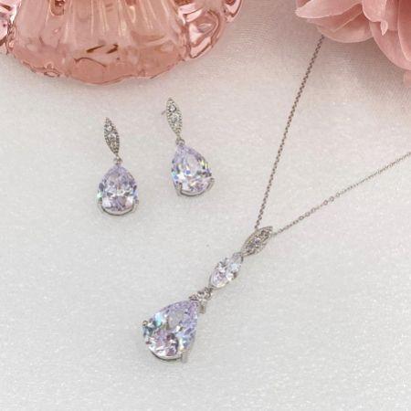 Ellie Cubic Zirconia Crystal Wedding Jewellery Set