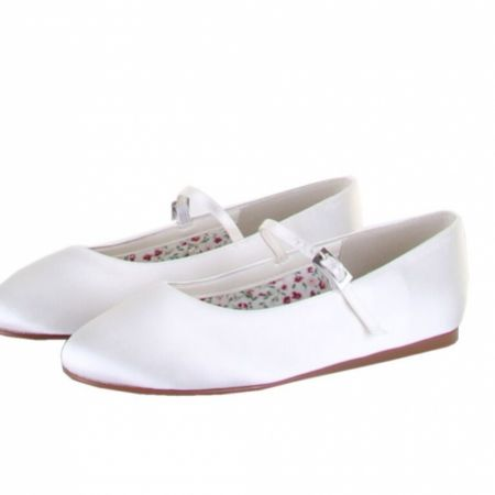 Else by Rainbow Club Candy Dyeable Ivory Satin Children's Bridesmaid Shoes