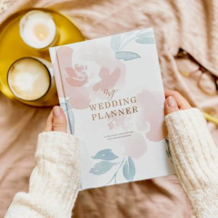 Floral Luxury Wedding Planner Book with Gilded Edges