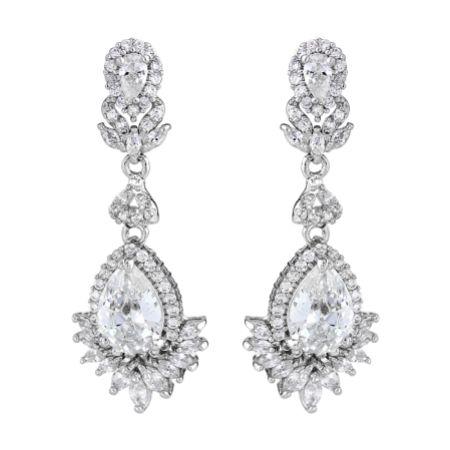 Great Gatsby Crystal Chandelier Wedding Earrings
