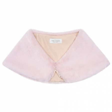 Helen Moore Blossom Pink Faux Fur Wedding Wrap