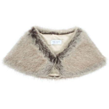Helen Moore Truffle Faux Fur Wedding Wrap