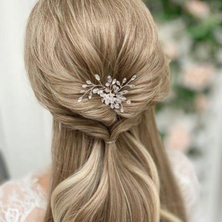Hera Crystal and Diamante Wedding Hair Pin