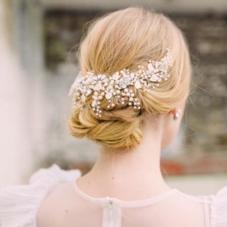Hermione Harbutt Cordelia Freshwater Pearl and Crystal Headpiece