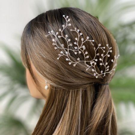Hermione Harbutt Dewdrop Swarovski Crystal Bridal Hair Pins