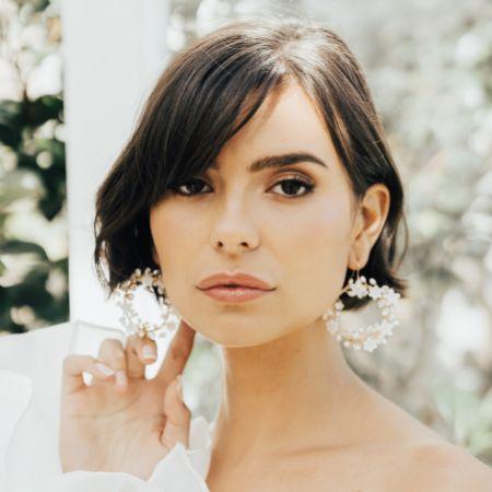 Hermione Harbutt Elspeth Mother of Pearl Flowers Hoop Earrings