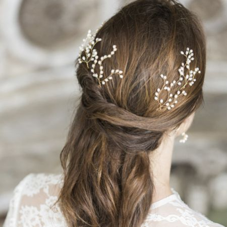 Hermione Harbutt Lily Freshwater Pearl Bridal Hair Pins