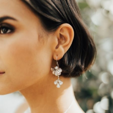 Hermione Harbutt Paris Swarovski Crystal Fan Drop Earrings