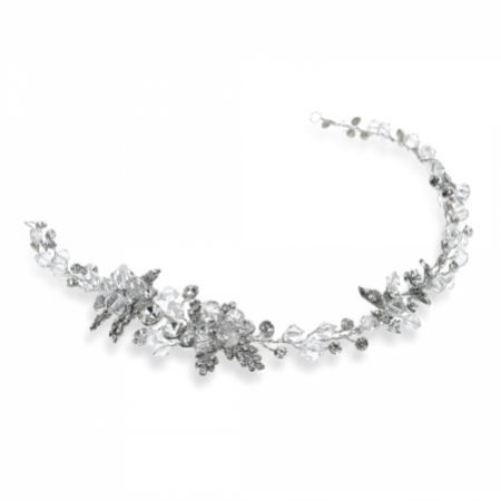 Ivory and Co Annette Crystal Blossoms and Leaves Wedding Hair Vine