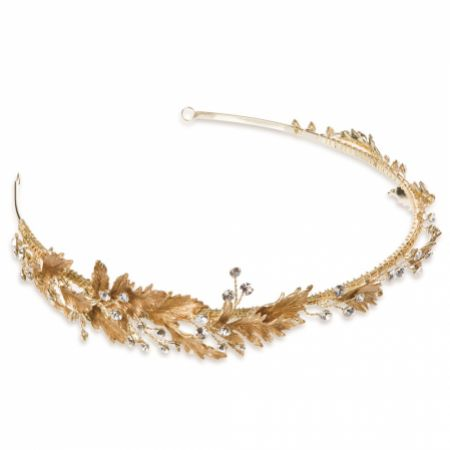 Ivory and Co Apollo Bronze Enamelled Leaves Side Headpiece