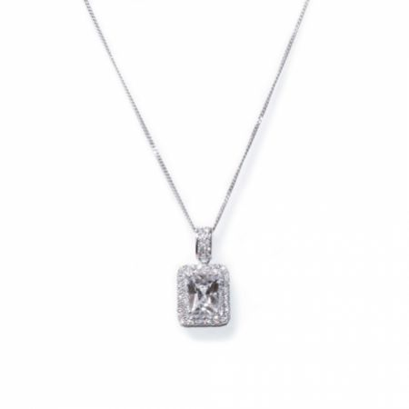 Ivory and Co Art Deco Crystal Pendant Necklace