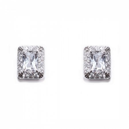 Ivory and Co Art Deco Crystal Stud Earrings