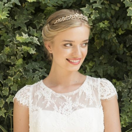 Ivory and Co Aura Rose Gold Crystal Embellished Tiara