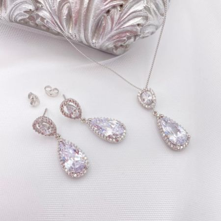 Ivory and Co Bacall Crystal Bridal Jewellery Set