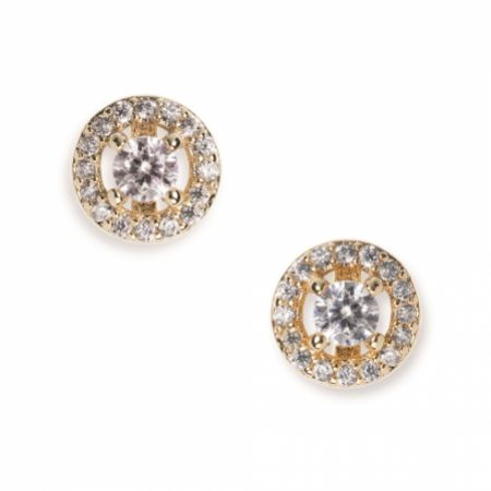 Ivory and Co Balmoral Gold Crystal Stud Earrings