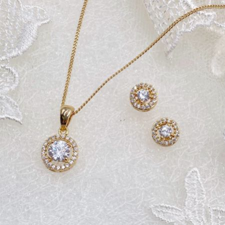 Ivory and Co Balmoral Gold Wedding Jewellery Set
