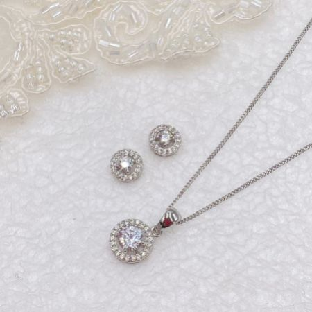 Ivory and Co Balmoral Silver Wedding Jewellery Set
