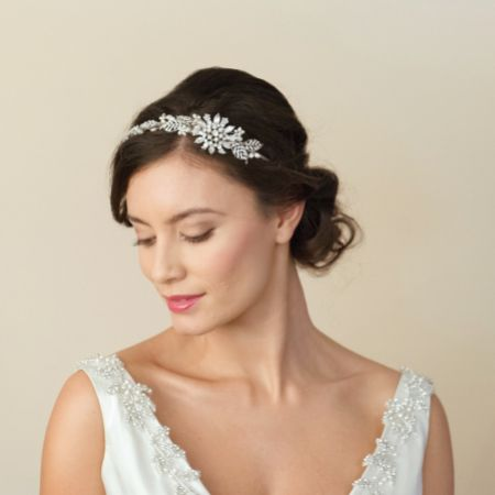 Ivory and Co Barcelona Starburst of Crystals and Pearls Wedding Headpiece