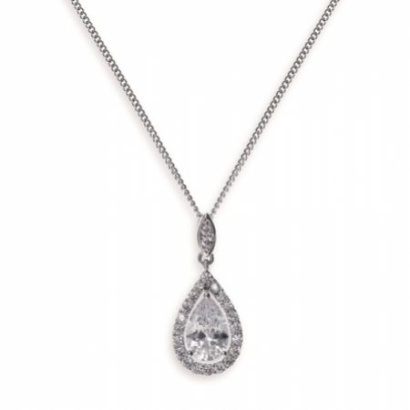 Ivory and Co Belmont Crystal Pendant Necklace
