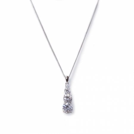 Ivory and Co Berkley Crystal Pendant Necklace