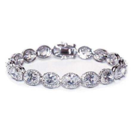 Ivory and Co Bloomsbury Crystal Embellished Wedding Bracelet