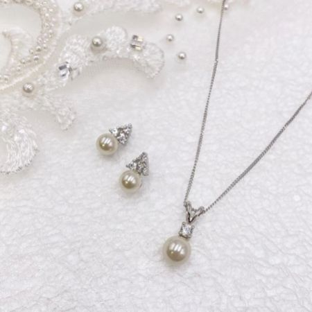 Ivory and Co Classic Pearl Bridal Jewellery Set
