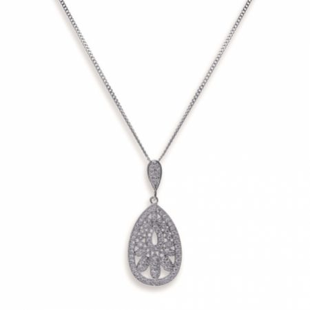 Ivory and Co Cosmopolitan Vintage Inspired Crystal Pendant Necklace
