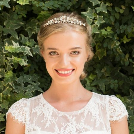 Ivory and Co Desire Rose Gold Floral Pearl and Crystal Bridal Tiara