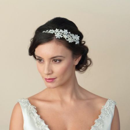 Ivory and Co Dior Crystal Blossom and Pearl Headband