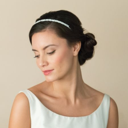 Ivory and Co Eden Narrow Silver Crystal Wedding Headband