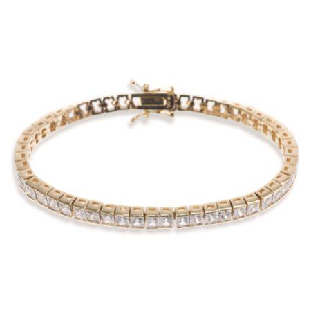 Ivory and Co Elegance Cubic Zirconia Wedding Bracelet (Gold)