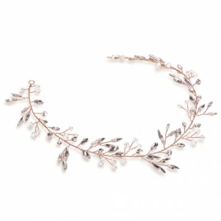 Ivory and Co Ember Dream Rose Gold Crystal Hair Vine
