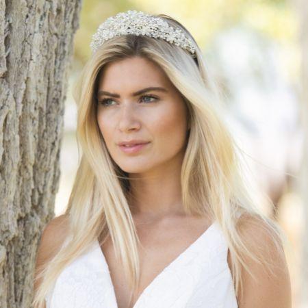 Ivory and Co Emma Statement Embellished Floral Bridal Tiara