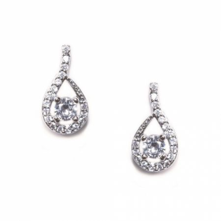 Ivory and Co Eternity Crystal Teardrop Wedding Earrings