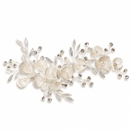 Ivory and Co Forget Me Not Enamelled Blossoms and Opal Crystal Hair Clip