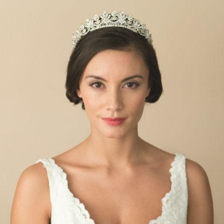 Ivory and Co Francesca Gold Crystal Embellished Bridal Tiara