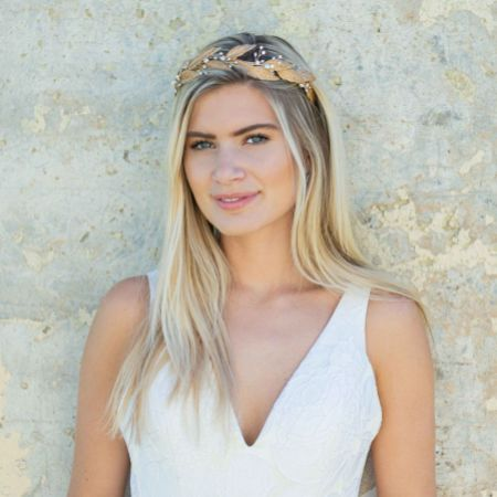 Ivory and Co Grecian Dream Bronze Enamelled Leaves Headpiece