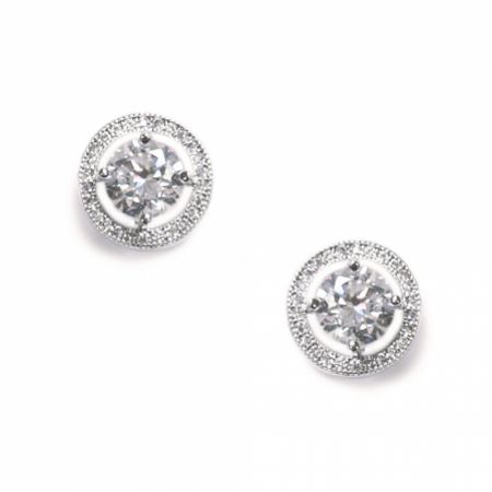 Ivory and Co Hampton Cubic Zirconia Stud Earrings