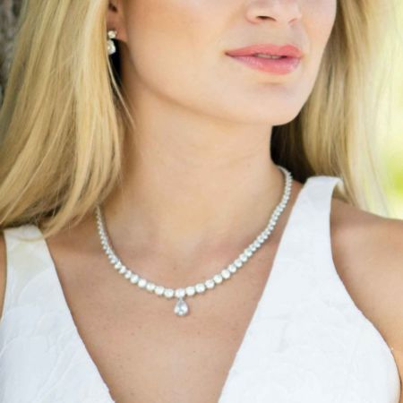 Ivory and Co Imperial Cubic Zirconia Wedding Necklace
