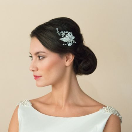 Ivory and Co Ivy Crystal Floral Wedding Hair Clip