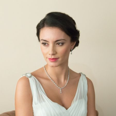 Ivory and Co Kensington Cubic Zirconia Wedding Necklace
