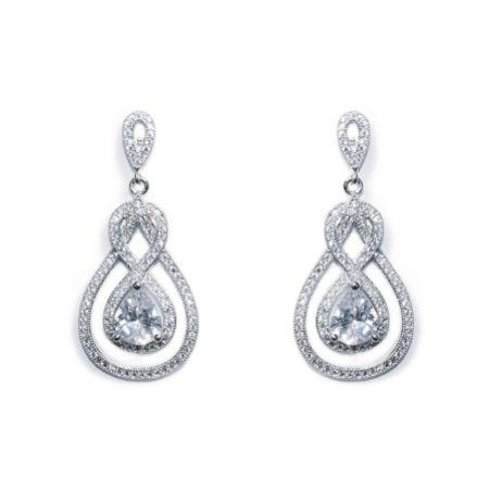 Ivory and Co Lexington Crystal Drop Wedding Earrings