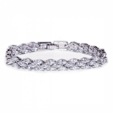 Ivory and Co Lincoln Cubic Zirconia Wedding Bracelet