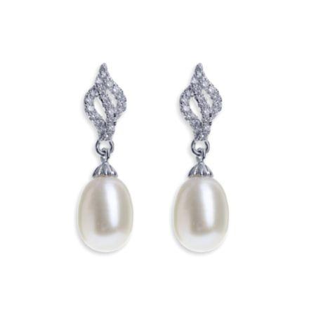 Ivory and Co Lisbon Pearl Drop Wedding Earrings